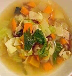 おすすめレシピ-甘い野菜のスープ